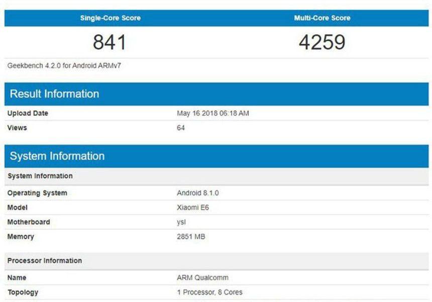 Смартфон Xiaomi Strakz спроцессором Snapdragon 625 появился набенчмарке Geekbench