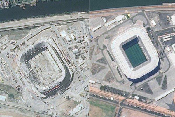 РКС обнародовали спутниковые снимки стадионов ЧМ-2018