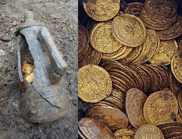В Италии раскопали амфору с золотыми монетами времен Римской республики