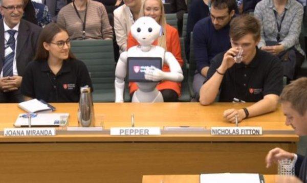 Доходчиво и красноречиво: В парламенте Британии впервые выступил робот
