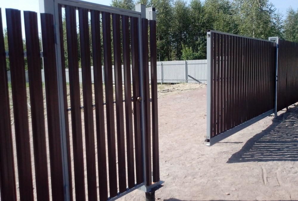 Откатные ворота в Санкт-Петербурге