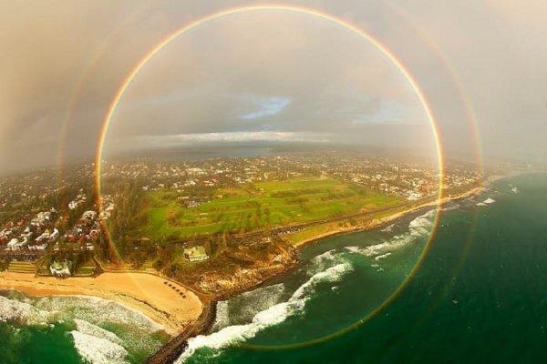 Ученые показали редкий вид радуги