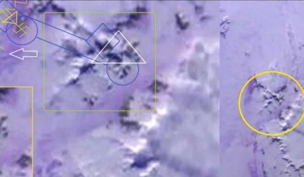 Дело рук пришельцев?: Спутники засняли в Антарктиде следы в виде свастики