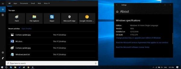 Microsoft тестирует настроенный пользовательский интерфейс для Cortana в Windows 10 1809