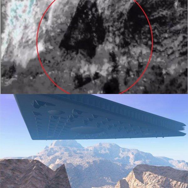 Спутник зафиксировал треугольный объект над Тихим океаном