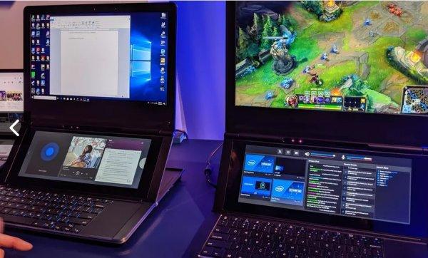 Intel разработали прототип ноутбука с двойным дисплеем