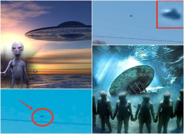 Подводный флот пришельцев? В небе над Чёрным морем заметили НЛО