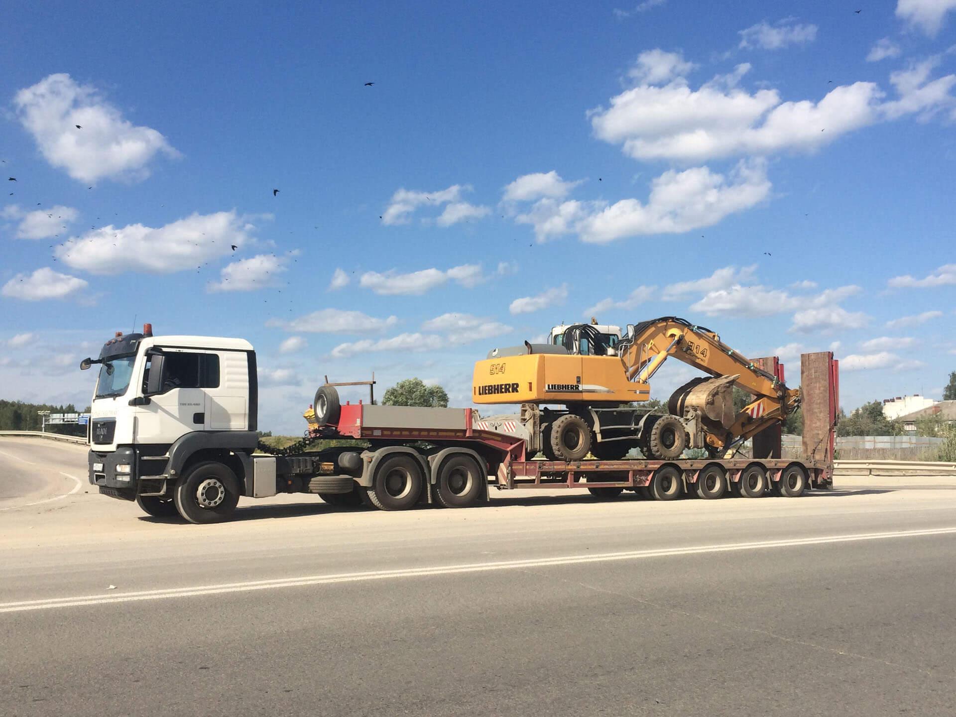 Эффективная транспортировка экскаваторов по России