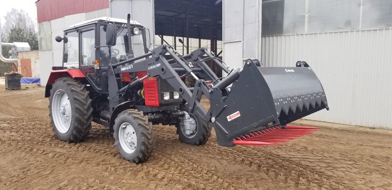 Погрузчик фронтальный на трактор МТЗ: особенности конструкции, сменные органы
